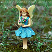 Woodland Knoll Fairy with Glowing Wings