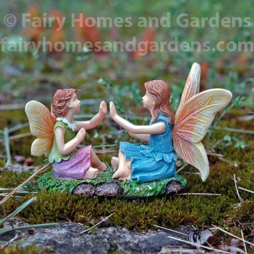 Woodland Knoll Fairies Playing Patty Cake