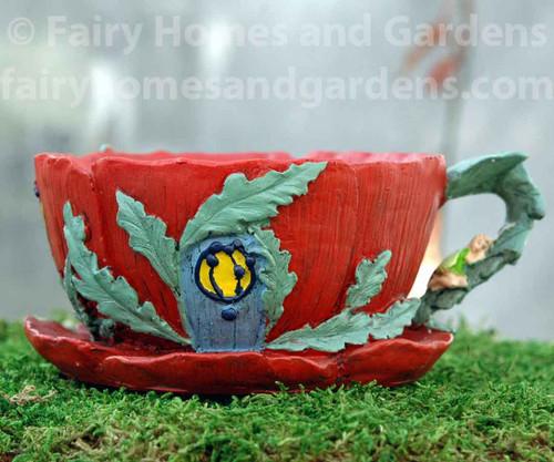 Poppy Tea Cup Planter