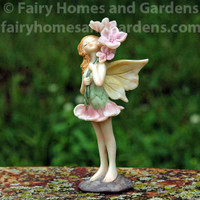 Flower Fairy Esther Holding Flowers Collectible Figurine