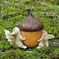 Squirrels Carrying Acorn Trinket Box Collectible