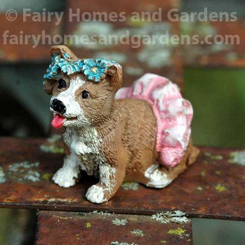 Miniature Corgi Puppy Figurine