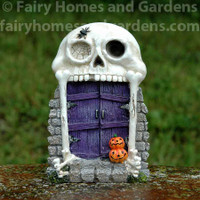 Halloween Skull Entrance with Purple Door