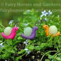 Miniature Glow-in-the-Dark Snails - Set of Three
