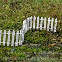 Woodland Knoll Miniature White Picket Fence