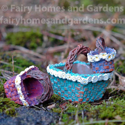 Miniature Daisy Flower Baskets - Set of Three
