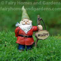 Miniature Welcome Gnome