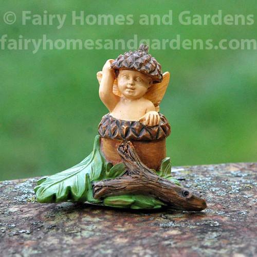Woodland Knoll Acorn Fairy Baby Figurine