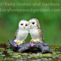 Miniature Loving Owls Figurine