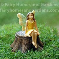 Woodland Knoll Fairy on  Secret Tree Stump