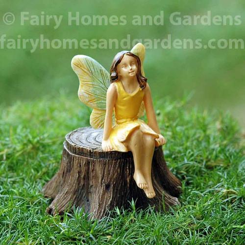 Woodland Knoll Fairy on  Secret Tree Stump