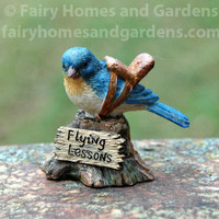 "Miniature  ""Flying Lessons"" Bluebird Figurine"