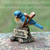 "Miniature  ""Flying Lessons"" Bluebird Figurine"