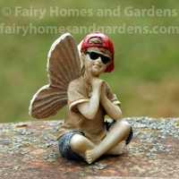 Cool Fairy Dude with Shades Figurine