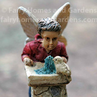 Fairy Boy at Drinking Fountain - Close Up View