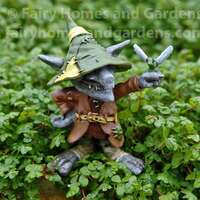 Swamp Land Troll 'Remy' with Dragonfly Figurine
