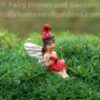 Miniature Mushroom Fairy with Ladybug 'Kinzly'