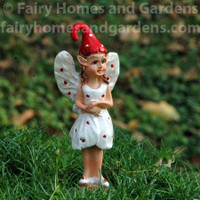 Miniature Standing Muscaria Mushroom Fairy 'Nicky'