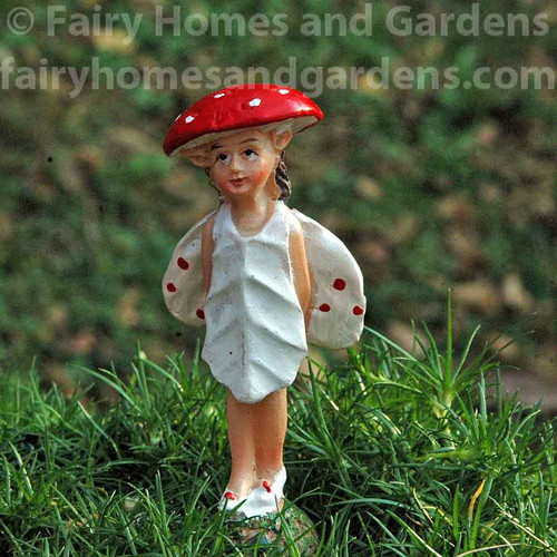 Miniature Muscaria Mushroom Fairy 'Riley'