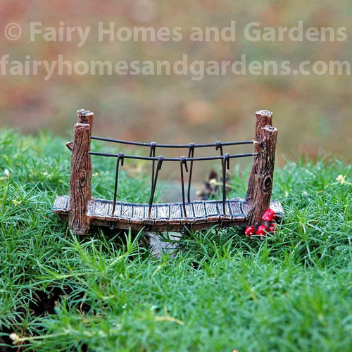 Miniature Mushroom Fairy Garden Bridge