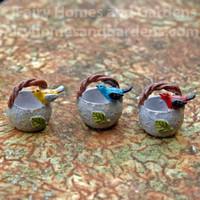 Miniature Bird Baskets - Set of Three