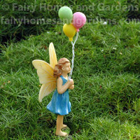 Woodland Knoll Fairy with Balloons Side View