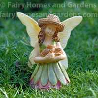 Woodland Knoll Fairy with Bunny Figurine