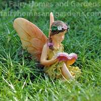 Woodland Knoll Fairy Reading Figurine