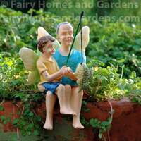 Grandpa and Grandson Fairies Fishing