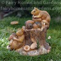 Squirrels Gathering Acorns Figurine