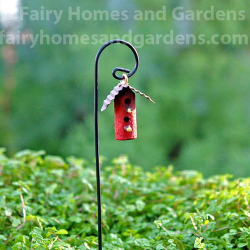 Miniature Red Woodland Birdhouse
