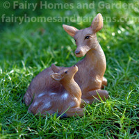 Woodland Knoll Doe and Fawn Figurine