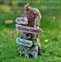 Miniature Fairy Garden Signpost with Squirrel