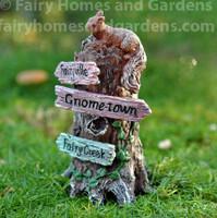 Miniature Fairy Garden Signpost with Squirrel