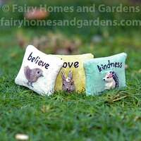 Miniature Fairy Garden Pillows - Set of Three