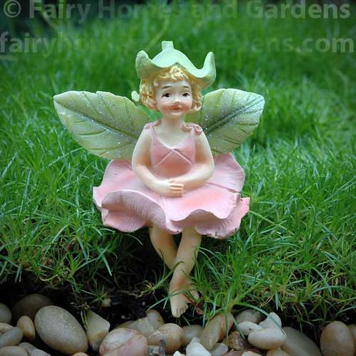 Miniature Rose Fairy Figurine - Elle