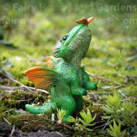 Miniature Dragon with Butterfly - Alternate View