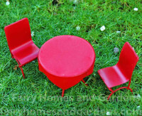 Miniature Metal Cafe Table and Chairs
