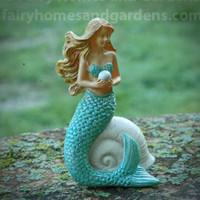 Mermaid with Pearl Figurine