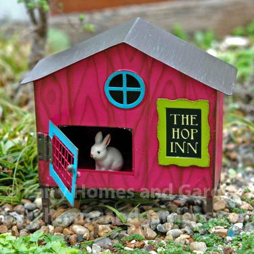 The Hop Inn Bunny Hutch with Baby Bunny