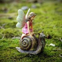 Woodland Knoll Fairy Riding a Snail
