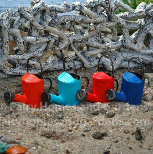 Miniature Watering Cans in Fiesta Colors