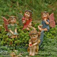 Set of 4 Miniature Fairytale Jewel Fairies