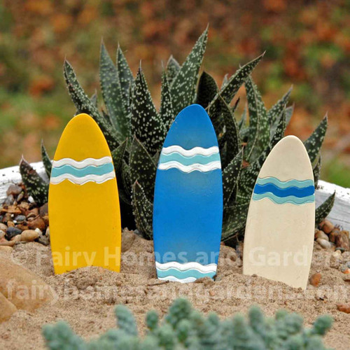 Set of 3 miniature surfboards