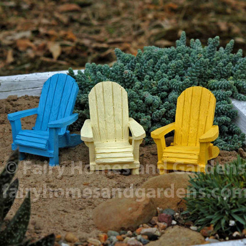 Miniature Beach Adirondack Chairs
