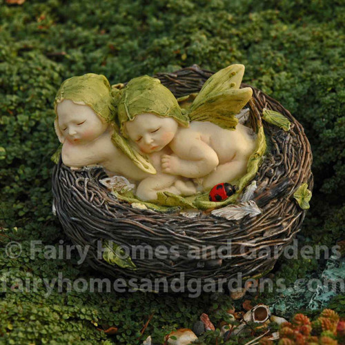 Fairy Babies Napping in a Nest