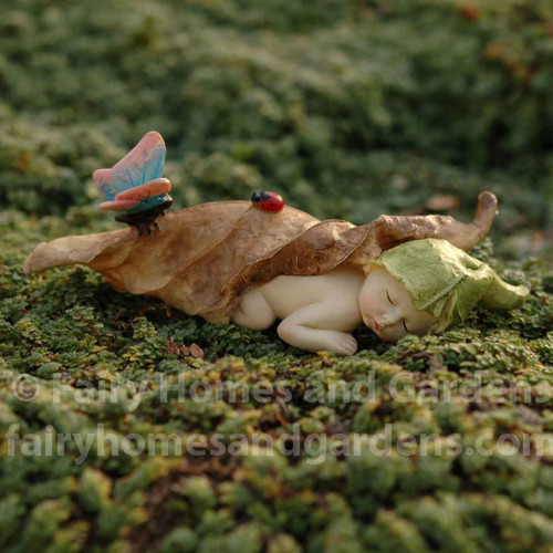 Sleeping Fairy Baby with Butterfly