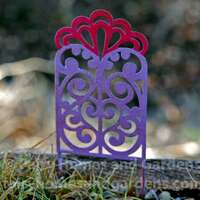 Miniature metal filigree trellis