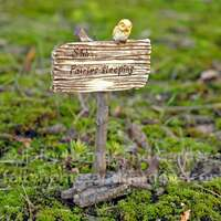 "Miniature Sign ""Shh... Fairies Sleeping"""