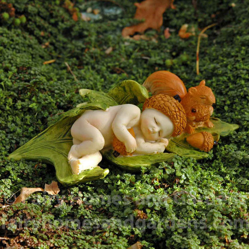 Miniature Fairy Baby with Squirrel
